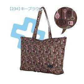 陽光角落~EUS58~HAPI+TAS鑰匙迷宮~折疊購物袋旅行袋 購物袋 可背可掛可插套行李箱拉桿 行李箱插袋