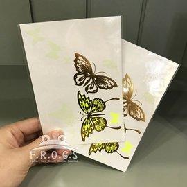 F.R.O.G.S WST019夜光隱形各式蝴蝶 人體彩繪美妝紋身貼防水轉印各式圖案環保轉