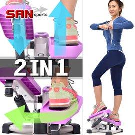 【SAN SPORTS】雙效2in1扭腰踏步機C149-T007(搖擺活氧美腿機.有氧滑步機劃步機.運動健身器材.推薦哪裡買專賣店ptt)