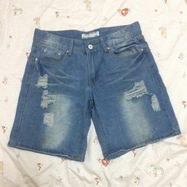 牛仔短褲 破洞牛仔褲 M