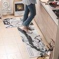 ins大理石紋pvc皮革廚房墊薄款長條地墊進門入戶門墊防水防滑腳墊(670元)