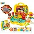 ~大福玩具樂園~新款兒童手提箱手工橡皮泥3D彩泥無毒超輕黏土 甜品組 益智過家家玩具