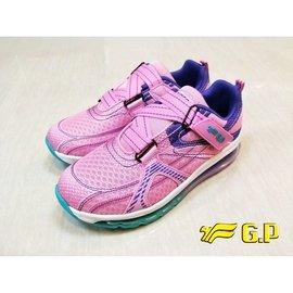 G.P新款 交叉帶全掌氣墊運動鞋 GP布鞋 P5782B 藍/粉桃 32-38號 阿亮代言