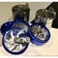 👧賣煙具的小女孩👧 63mm手搖鋁合金屬四層研磨器齒輪Grinder煙草磨碎器煙具配件菸具週邊pipe