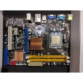 Intel G31晶片組/ASUS 華碩P5KPL-AM+Intel E6420+2G*2 DDR2/CPU+主機板+記憶體