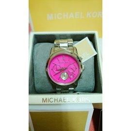 全新MICHAEL KORS MK手錶 型號MK6160 不繡鋼銀錶帶 三環 日曆 (附保卡)