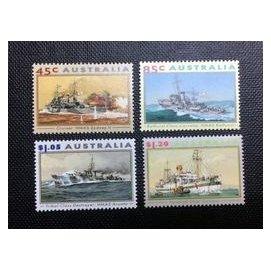 1993.04.07 澳洲 海軍著名戰艦 套票4全 115元