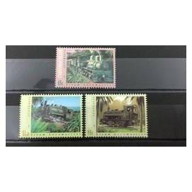 1994.05.19 澳洲聖誕島 蒸汽火車 套票3全100元。