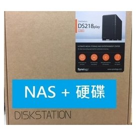 【含SEAGATE 4TB 那嘶狼*2顆】DS218PLAY+ST4000VN008 *取代DS216play*