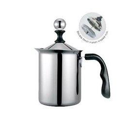 ~* 萊康精品百貨*~ 寶馬牌 pearlhorse 小奶泡器 奶泡杯 雙層濾網 400cc HK-S-08-400-D