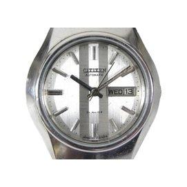 機械錶  CITIZEN 60602900  星辰~傳統 圓型  銀白色面  機械  軍錶