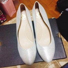 銀色亮片高跟鞋