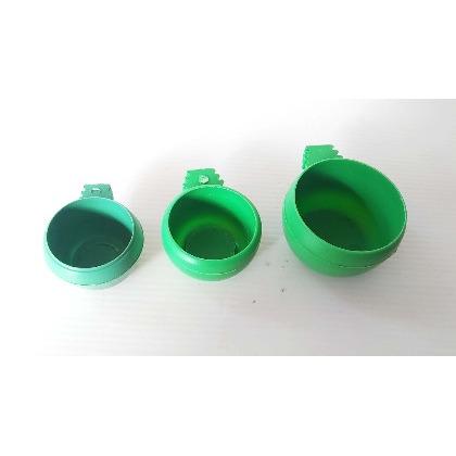 GOODBIRDPET∣籠子配件/新款三牙蛋型杯(三種尺寸可選-大)/裝飼料,水,營養品,礦物土等東西/卡準固定於籠子任一處 不會被打翻