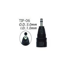 [百威電子] DC接頭 TIP-06 (外徑:3.0 內徑:1.0mm)變壓器轉接頭(ASUS華碩) 雙PIN腳內縮防呆