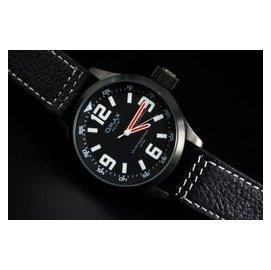 強悍iwc top gun hamilton風格OMAX plus+ 歐馬仕pilot飛行儀表板風格黑色不鏽鋼錶殼石英錶