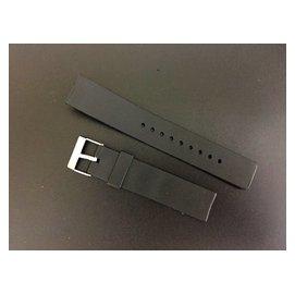 可替代casio, JAGA, timex, seiko, citizen 天美拾 原廠錶帶之20mm 直身之黑膠錶帶