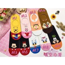 韓國襪子現貨熱銷No.1迪士尼米奇米妮小熊維尼奇奇蒂蒂唐老鴨黛西布魯托 隱形襪 韓國空運 晴空衣著