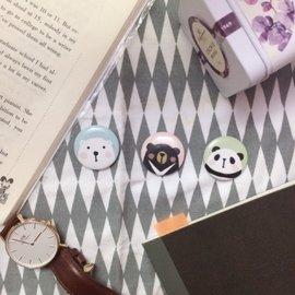 熊熊徽章 別針 胸章/北極熊 臺灣黑熊 熊貓 貓咪 •ᴥ•
