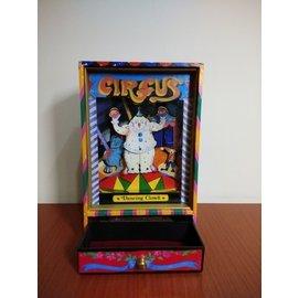 早期摩登時代 美好時光 懷舊老物 小丑馬戲團 音樂收納盒 木頭 玻璃 製作