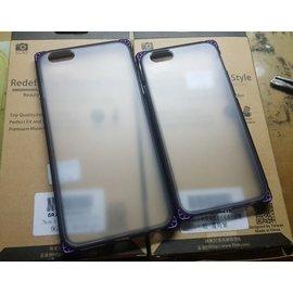 【桃園現貨】IPhone6SPLUSi6SPLUSi6Plus金屬邊角紫軟質抗震防摔保護殼蘋果手機殼手機套iPhone背蓋保護套