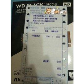 WD 黑標 BLACK 256GB M2 2280 PCIe Gen3 SSD