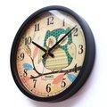 Q版貓頭鷹掛鐘 居家裝飾 掛飾 時鐘 壁鐘 創意 居家裝飾 阿拉伯數字 極簡 現代 禮物 無印 精緻 靜音