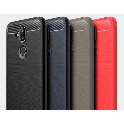 全包邊拉絲碳纖維軟殼 Nokia 8.1 / X71 7 3.1 plus手機殼矽膠鏡頭保護套防滑防摔皮套空壓殼犀牛盾