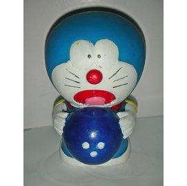 aaL皮商旋.(企業寶寶公仔娃娃)此款少見高約10.5公分哆啦A夢(Doraemon)寶寶/存錢筒/撲滿!/窗/-P