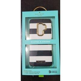 Samsung Galaxy S9+ Kate Spade 黑白條紋硬殼背蓋