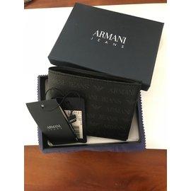 ARMANI 滿版阿馬尼男用皮夾