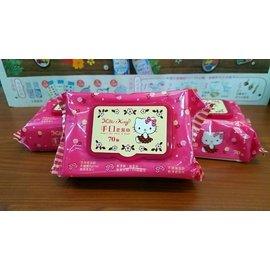 Hello Kitty 三麗鷗 凱蒂貓手口柔濕巾/濕紙巾(有蓋) 70 抽  好好逛文具小舖 品質佳 促銷價 超優惠