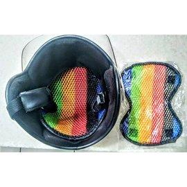 黑色安全帽內襯 獨家限量告白 安全帽緩衝墊 3D蜂巢內襯網 隔熱 透氣 舒適 防滑 安全帽墊 機車族 3D蜂巢 安全帽