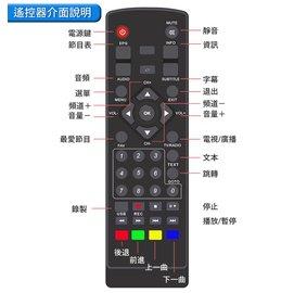 發票價!雙頻DVB-T2 電視機上盒 高清播放器【 遙控器】 22 HD台EPG預約即時錄