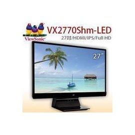 福利品 含稅開發票 【ViewSonic 優派】VX2770Smh-LED 27型AH-IPS 寬螢幕 電腦螢幕