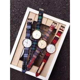 韓國品牌JULIUS質感格紋手錶