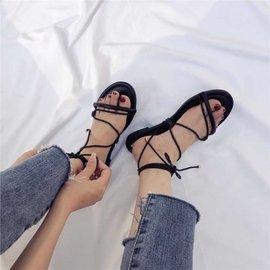羅馬綁帶平底涼鞋