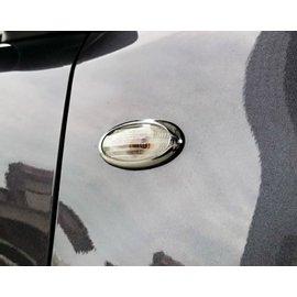 ~圓夢工廠~ Nissan Juke 2011 12 13 14 15 側燈方向燈鍍鉻銀框飾貼 超 亮框 飾貼