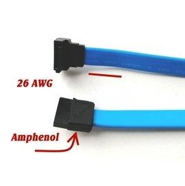 全新安費諾Amphenol Intel SATA 3訊號線,線長57公分,包錫隔離雜訊,支援6G。高速SSD專用