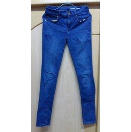 ,約8成新~日製 Gap 單寧刷紋藍色合身剪裁牛仔長褲 中低腰 舒適好穿搭 s號  250