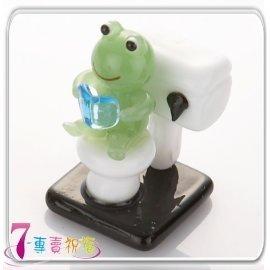 7~專賣祝福 #9829 青蛙坐馬桶小擺飾