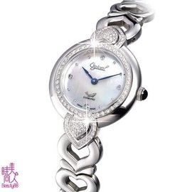瑞士愛其華(Ogival) 晶漾傾心時尚真鑽腕錶/19mm-真情藍[70165]