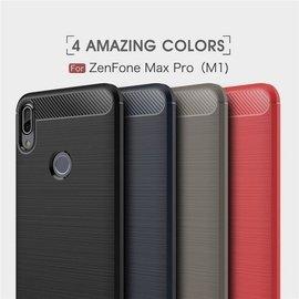 包邊拉絲碳纖維軟殼 華碩ZenFone Max Pro 防摔防撞防滑手機殼ZB602KL矽膠鏡頭保護套非空壓殼犀牛盾M1
