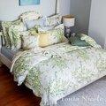 全新Tonia 東妮專櫃高紗支標準雙人4件式舖棉兩用被床包組《奧麗薇亞》原價21880元