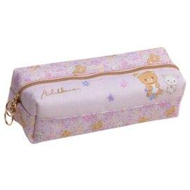 (現貨)日本Rilakkuma 拉拉熊 雙開 雙層 拉鍊 筆袋 鉛筆盒 文具收納包 粉色