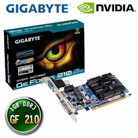【J.X.P】技嘉 GIGABYTE GeForce 210 D3 1G 電腦顯示卡
