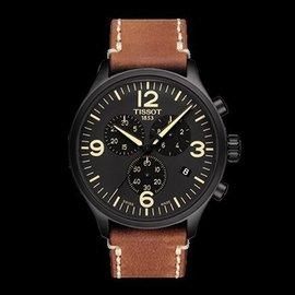 Tissot 天梭速馳系列石英皮革男腕錶 T1166173605700