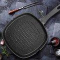 平底鍋 卡特馬克麥飯石28cm煎牛排煎鍋家用條紋平底鍋不粘鍋電磁爐通用WY