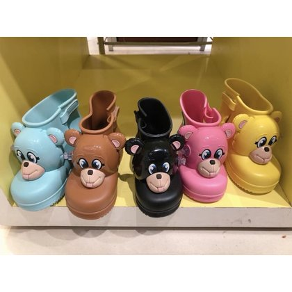 mini melissa x Jeremy Scott聯名款 熊熊 猴子靴
