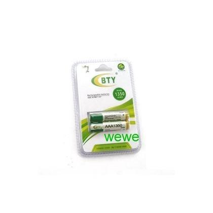 大容量 鎳氫充電電池4號AAA-型號1350 2顆 led腳踏車車燈/手電筒/ 模型遙控/數位相機/無線電話均可
