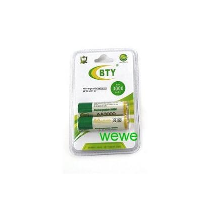 大容量 鎳氫充電電池3號AA3000 2顆 led腳踏車車燈/手電筒/ 模型遙控/數位相機/無線電話均可